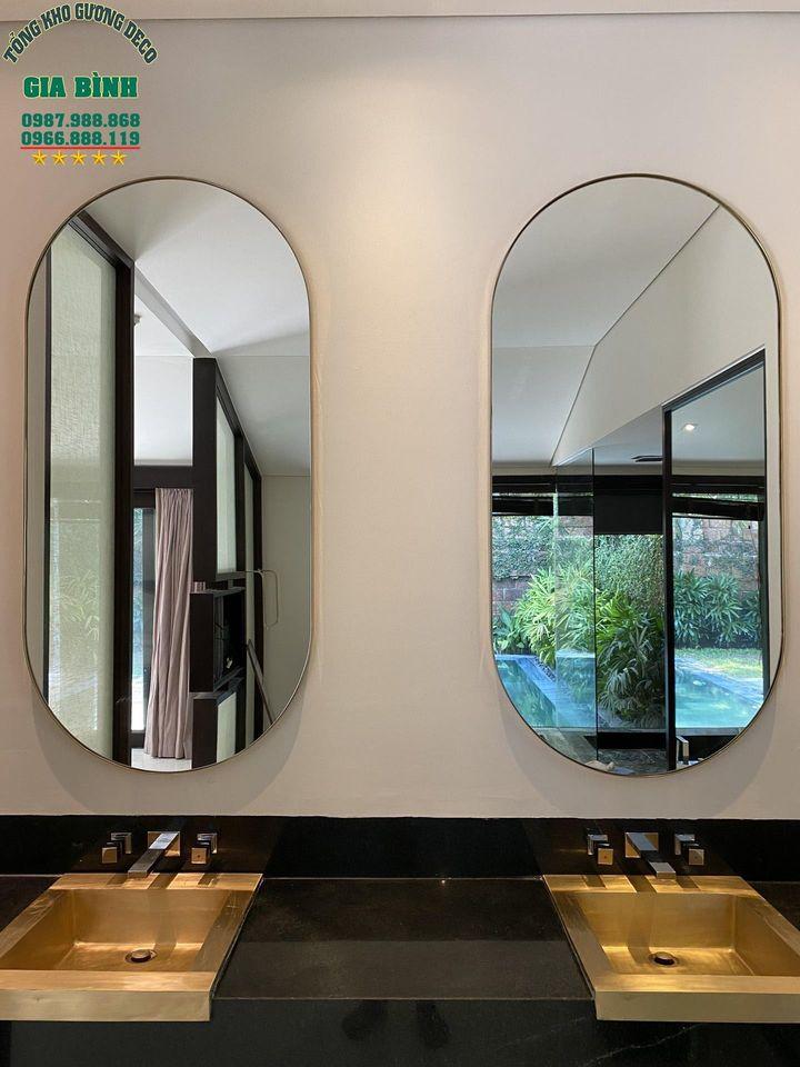 Bố cục gương soi nhà tắm chuẩn chất lượng thẩm mỹ
